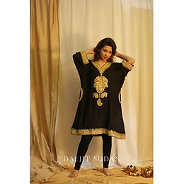 Black Phiran set with Tilla Embroidery I