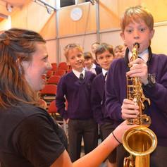 Saxophone workshops in schools