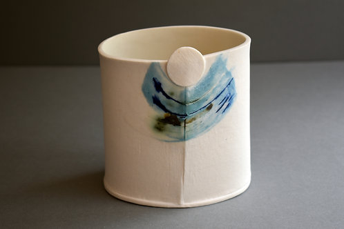Sintra turquoise & cobalt small vessel