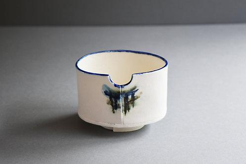 Sintra turquoise & cobalt tea bowl