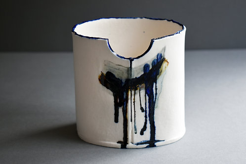 Sintra grey & cobalt small vessel