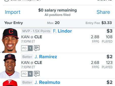 8/23 FanDuel MLB 3 Man Lineup