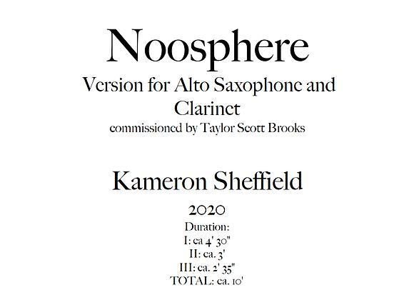 Noosphere, Version for Alto Saxophone & Clarinet