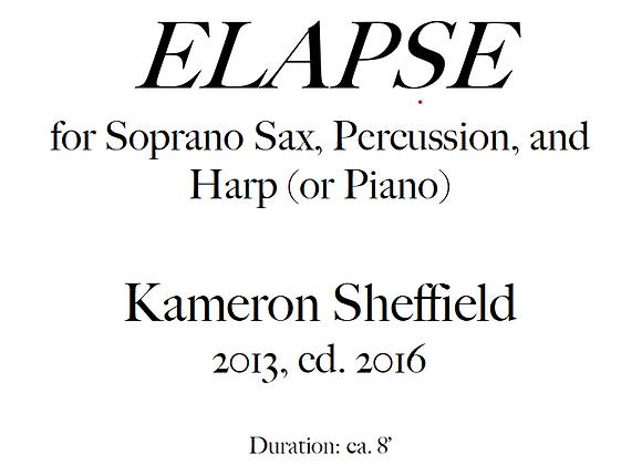 ELAPSE for Soprano Sax, Harp, and Percussion