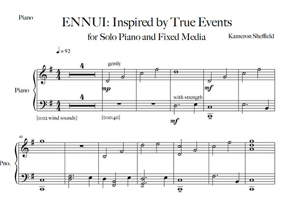 ENNUI: Inspired by True Events