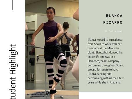 Student Highlight - Blanca Pizarro