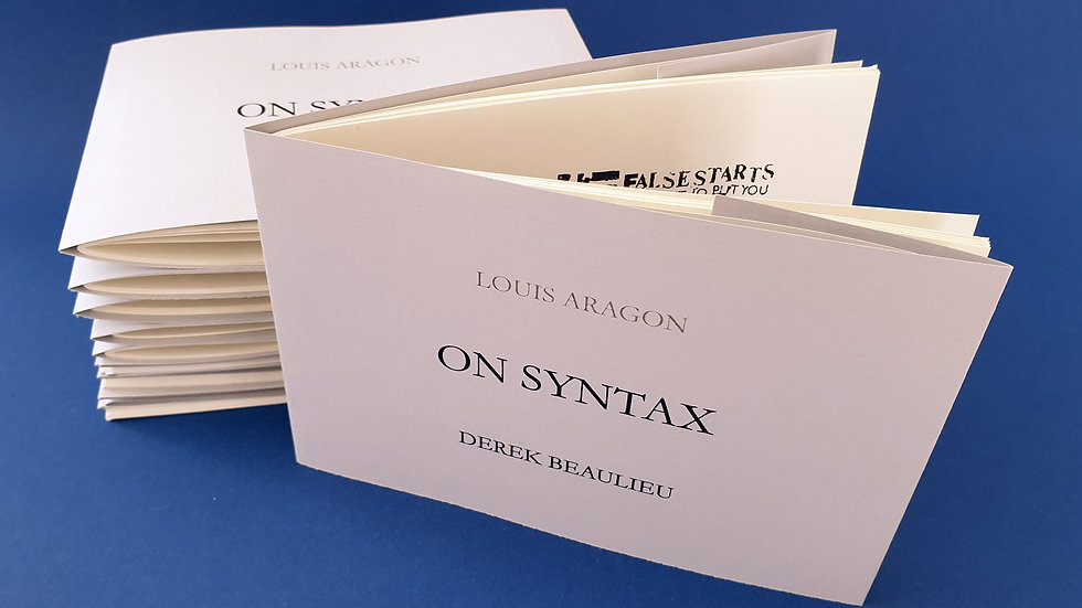 Derek Beaulieu, On Syntax