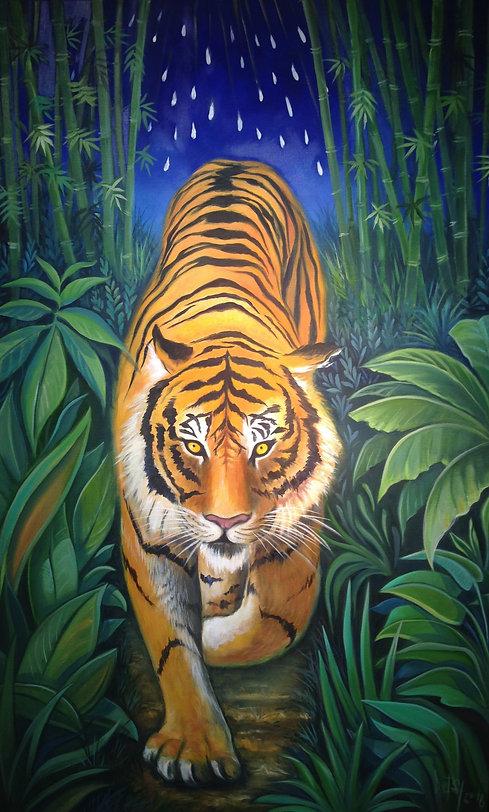Tiger painting based on William Blake's poem