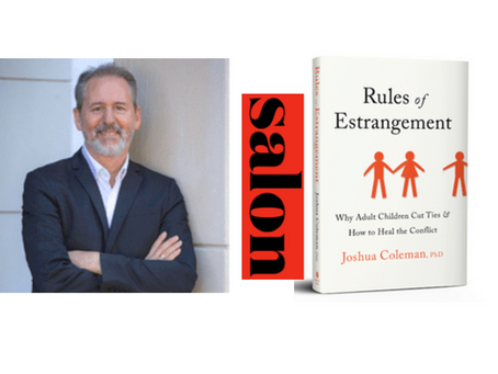 """Psychologist Joshua Coleman: How to contend with estranged family members  """"Rules of Estrangement"""""""