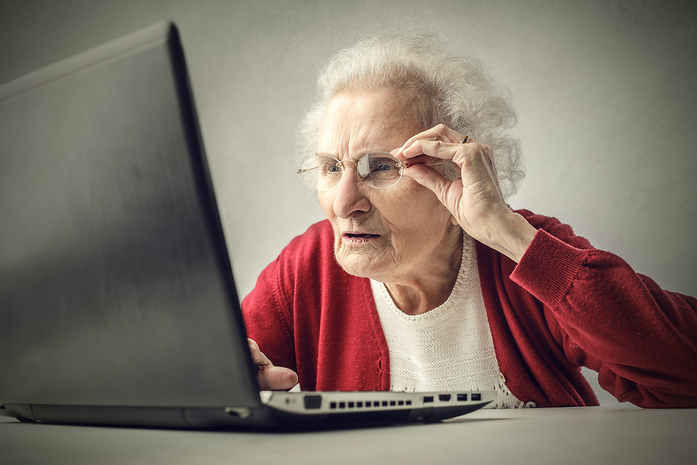 grandma using a clinical study website for digital patient recruitment