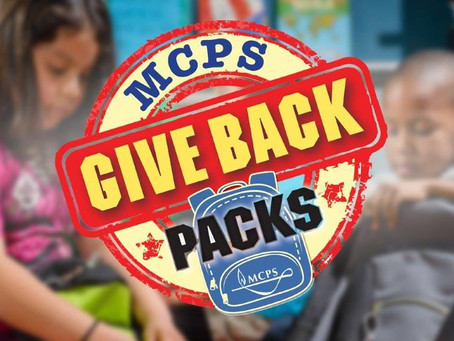 MCPS Kicks Off 10th Annual Give BACKpacks Campaign