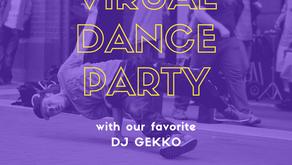 PTA hosts first Virtual Dance Party with fan favorite, DJ Gekko