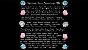2020 Transgender Day of Remembrance. Read Their Names.