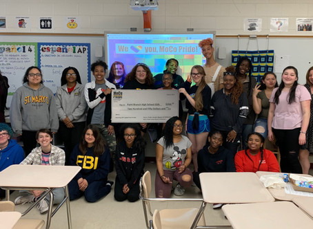 MoCo Pride Center Matches Grant to GSA of Paint Branch High School