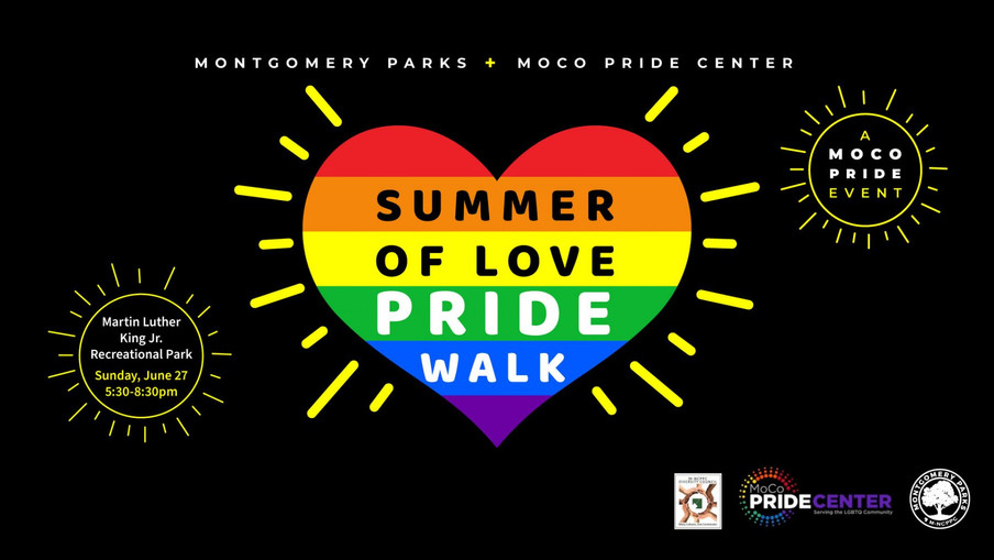2021 Pride Events in Montgomery County Sponsored by MoCo Pride Center