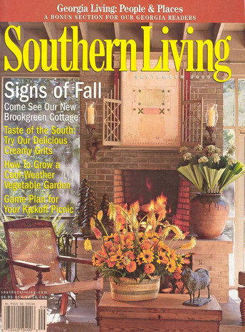 Picture frame on the cover of Southern Living
