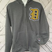 Custom Chenille letter zip-hoodie