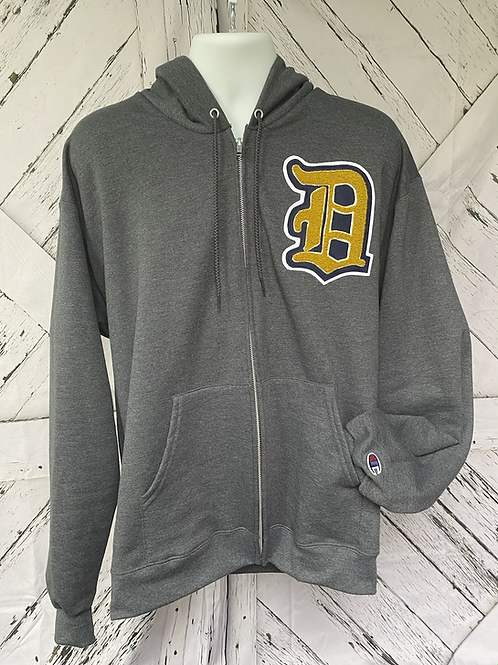 Hoodie with a custom Old English Letter: Custom Chenille Hoodie