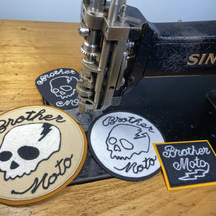 Brother Moto custom patches