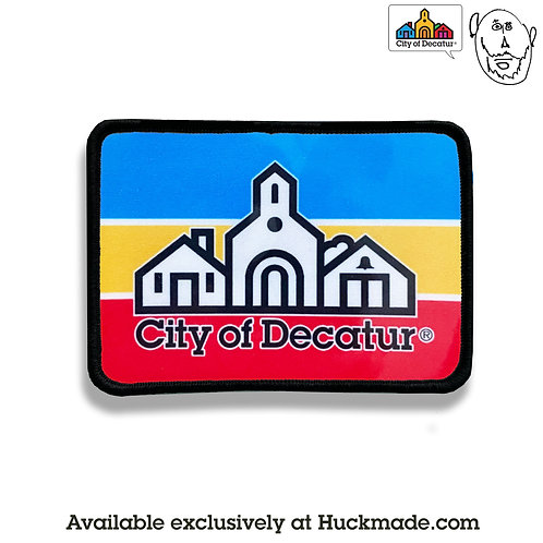 City of Decatur (stripes): Patch (printed iron-on)