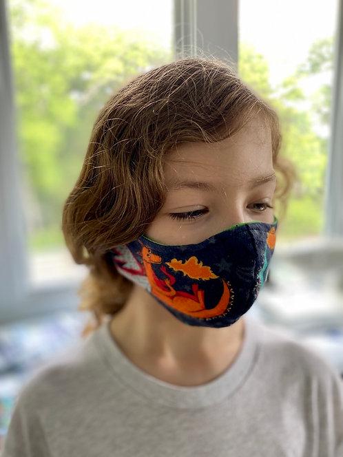 Custom Dragon fitted handmade: Face mask