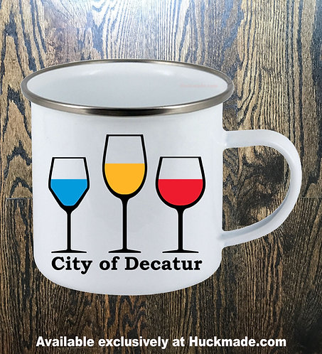 Decatur Wine: Enamel Camping Mug