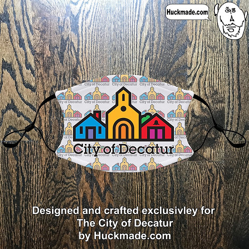 City of Decatur (Pattern #1): Youth Face mask with pocket
