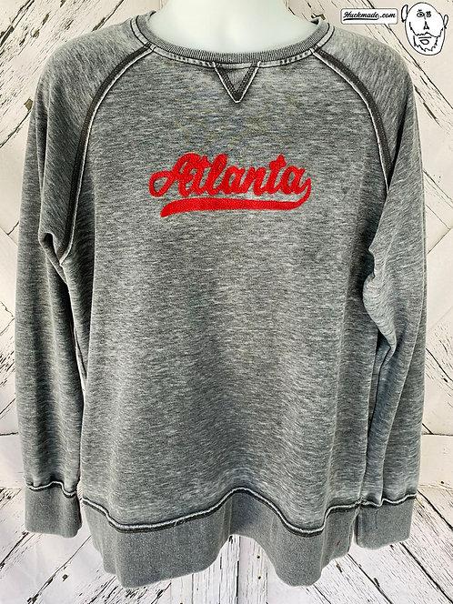 Vintage Atlanta Varsity Chainstitched: Unisex Crew Sweat Shirt