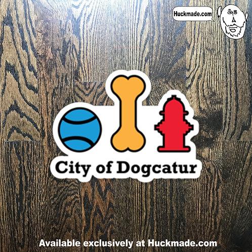 City of Dogcatur: Sticker (Small)