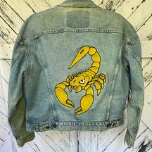 Custom chainstitch denim jacket