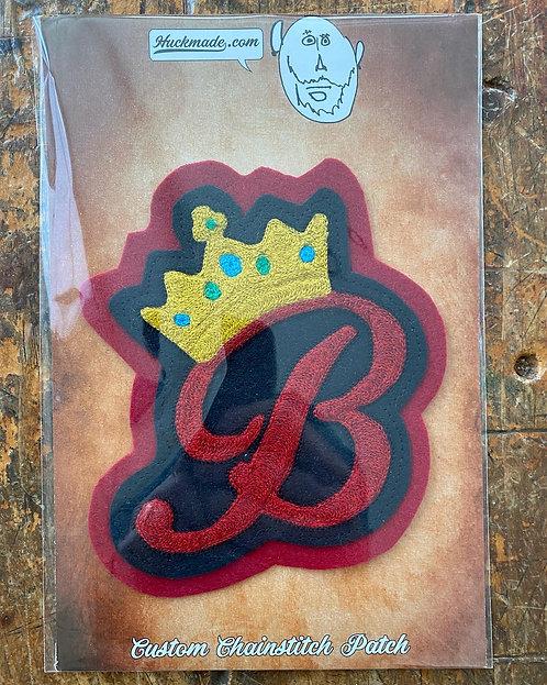 Queen B: Chainstitch Patch