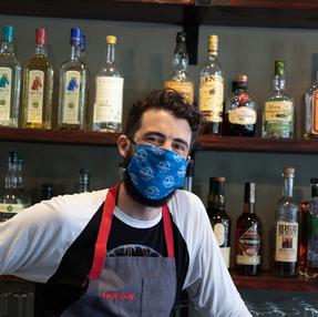Custom masks for Gunshow restaurant