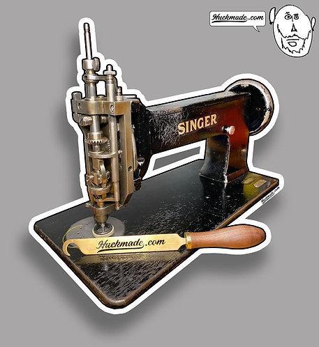 Huckmade, sticker, decal, chainstitch, singer, 114w103, singer 114w103, vintage sewing machine