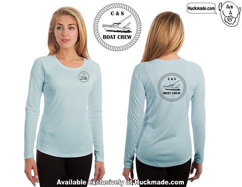 Custom design for C&S Boat Crew Vapor UPF 50 Boat Shirt: Family Package