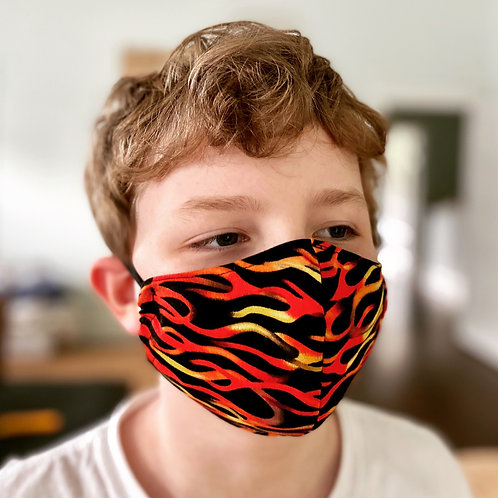 Custom Flames fitted handmade: Face mask