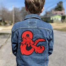"""""""Dungeon Master"""" kid's denim jacket"""