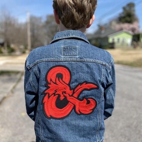 """""""Dungeon Master"""" kid's jean jacket"""