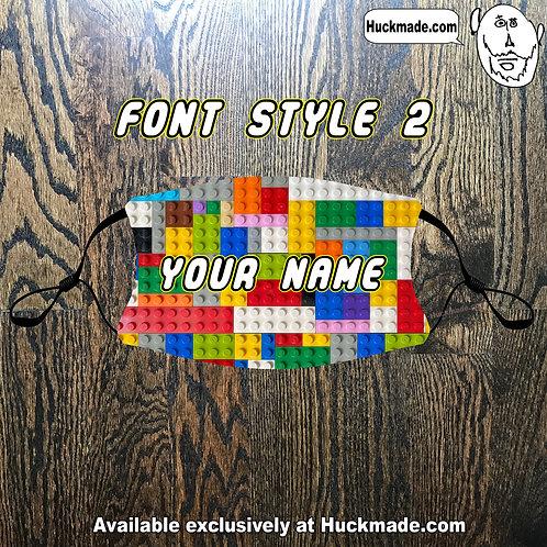 Brick Name Custom Design: Youth Face masks (2 styles)