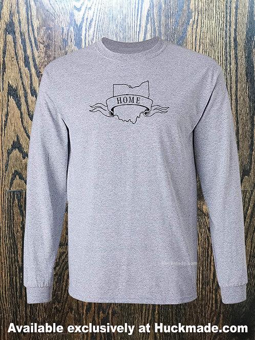 Ohio is Home: Adult Long Sleeve Shirt