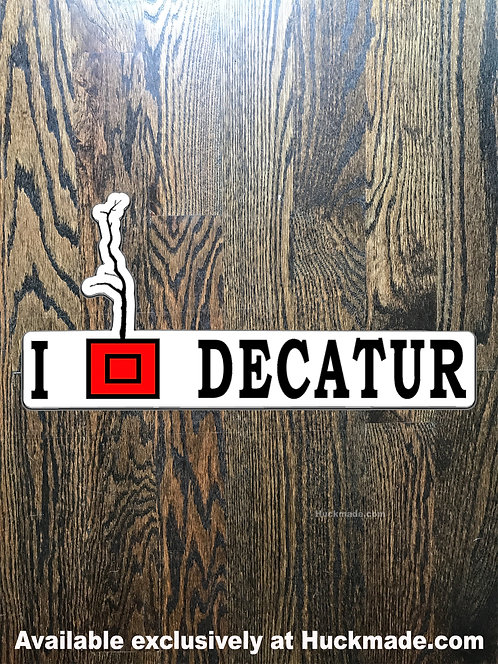 decatur, decatur decal, decatur sticker, decal, sticker, car magnet, decatur planters, planter pride, planters, huckmade