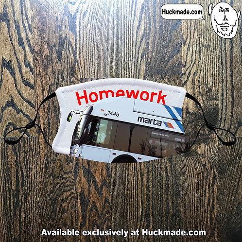 Homework vs MARTA Bus: Youth Face mask