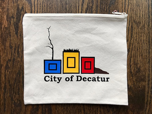 Decatur Planters: Canvas Zipper bag