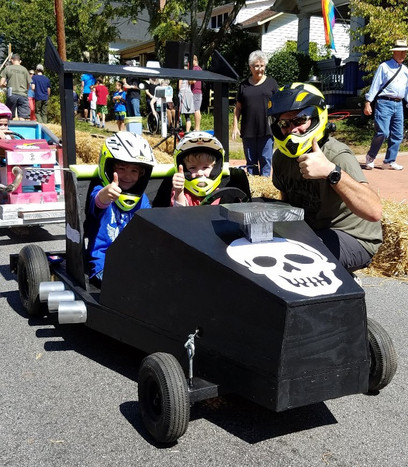 2 person soapbox derby car
