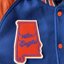 Custom Chenille and chainstitch varsity jacket