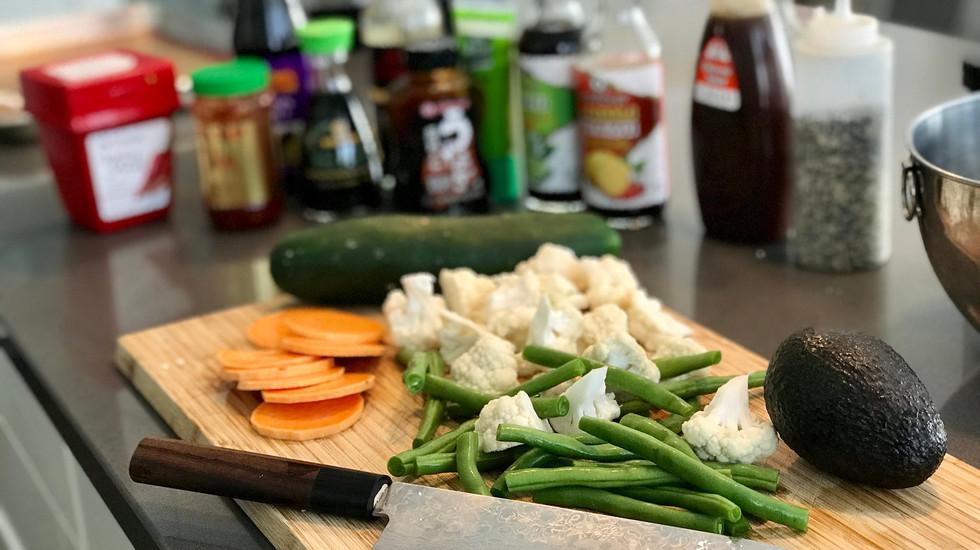 Prep for sushi night