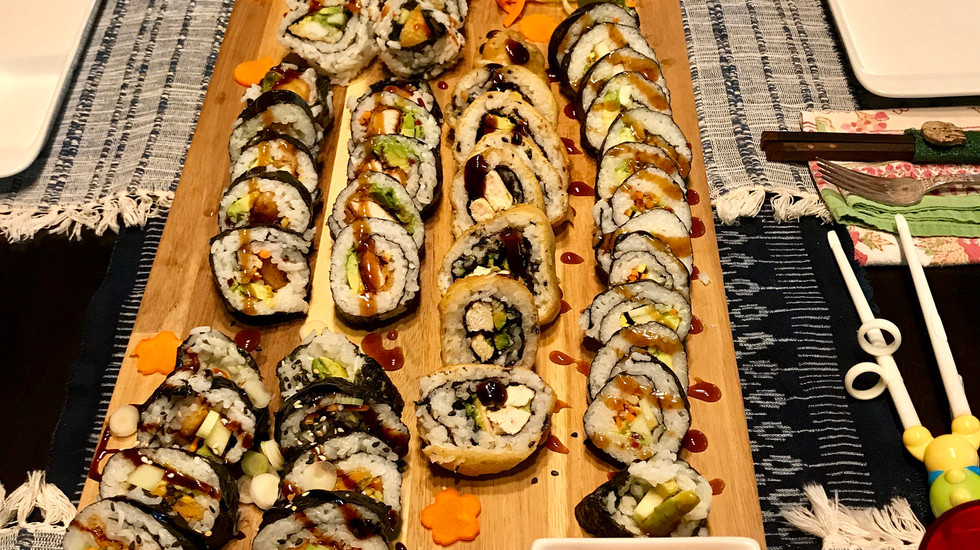 Sushi night for my son