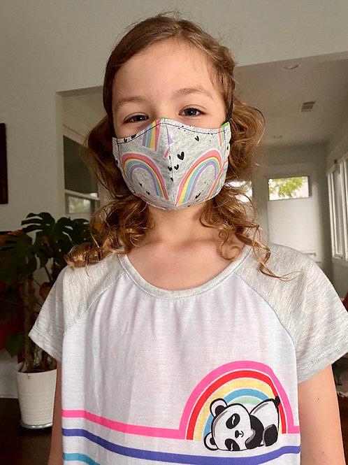 Custom Rainbows fitted handmade: Face mask