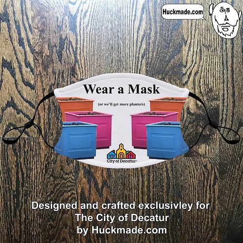 """Wear a mask (or we'll get more planters): Adult Face mask with pocket"