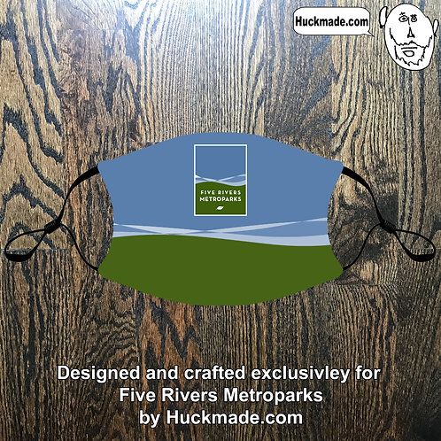 5 Rivers Metroparks: Custom Face mask w/Filter Pocket (design 1)