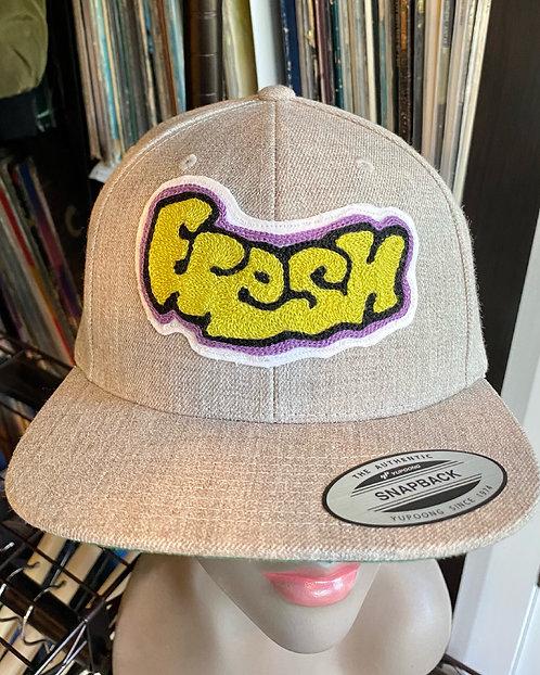 """""""FRESH"""" Chainstitch logo: Wool Trucker Hat"""